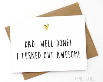 Handmade Funny Father's Day Card