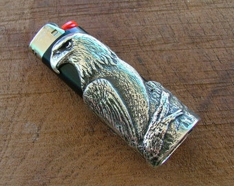 Solid Sterling Silver Eagle Bic Lighter Case
