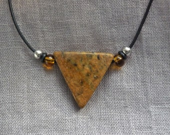Soapstone pendants necklace * triangle *.