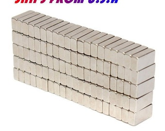 50-100pcs N50 10mm x 5mm x 3mm Super Strong Block Magnets Rare Earth Neodymium Craft magnets Project magnets