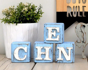letter blocks nursery decor wooden blocks baby name blocks alphabet blocks custom wooden block letters nursery decor name