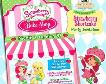 Strawberry Shortcake Invitation - Strawberry Shortcake Party - Strawberry Shortcake Birthday Invitation - Strawberry Shortcake Card