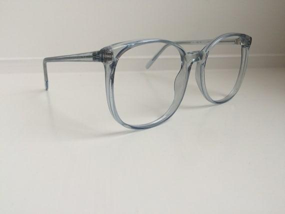 Vintage Eyeglass Frames Oversized Blue Glasses Frames