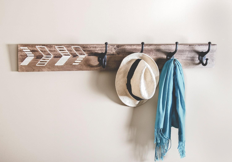 coat hook rack geometric decor cast iron hooks entryway. Black Bedroom Furniture Sets. Home Design Ideas