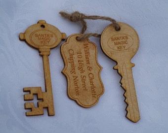 Santa's Key with Personalised Tag