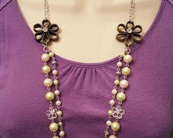 Spring Multi Strand Necklace