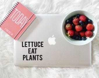 Lettuce Eat Plants Sticker - Vegan Decal - Vegan Sticker - Vegetarian Sticker - Vinyl Decals - Laptop Stickers - Car Decals - Car Stickers