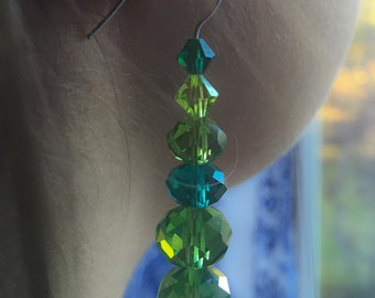 Green Crystal Earrings