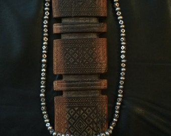 TUAREG BEADS NECKLACE,Nague-Nague silver beads,ethnic jewelry,African jewelry,nomad silver
