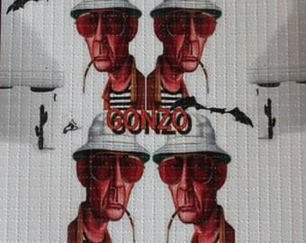 Hunter S. Thompson Gonzo Blotter Art Print