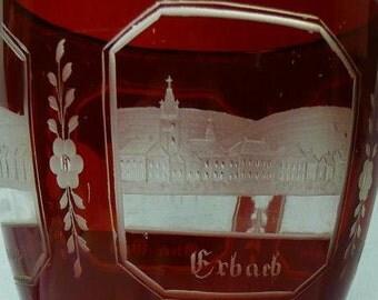 Bohemian Beaker, Engraved Scenes