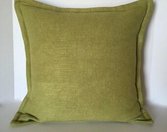 Designer Pillow -  Accent Pillow - Decorative Pillow - Pillow Cover - Lime Green - Throw Pillow
