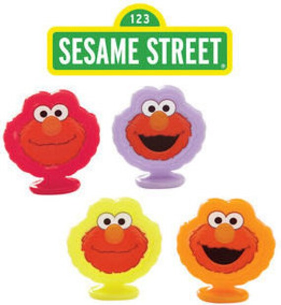 sesame street cake toppers sesame elmo cupcake toppers 8ct 7302