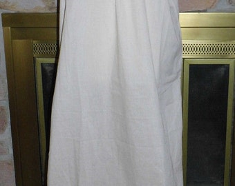 Vintage Roxana Lingerie Embroidered Neckline Long Beige Night Gown Sz XG-OS