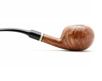 "Tobacco Smoking Pipe Briar Metal filter 5,51"" NEW Unsmoked Smooth Tomate light pipe extra extra Briar ebonite stem excellent quality + GIFT"