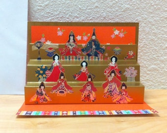Fukui Asahido Pop-up Greeting Card - Geisha Girls Japan 1990's