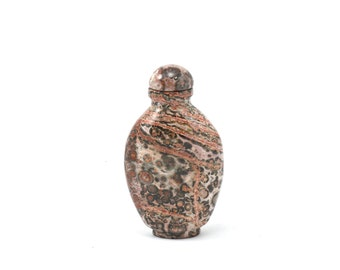 Lepard Skin Jasper Snuff Bottle