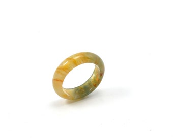 Size 9, Solid agate ring, agate ring, solid orange ring, natural ring, stone ring, solid stone ring,  ring, geode ring