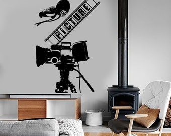 Wall Vinyl Decal Art Camera  Movie Film Cinema Amazing Decor 1362dz