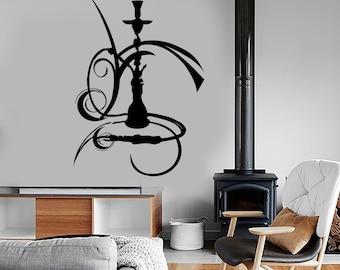 Wall Vinyl Marihuana Hookah Shisha Smoking Decal Mural Art 1607dz