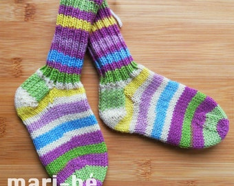 Socks / stockings in washable wool 5 1/2 inches or 14 cm