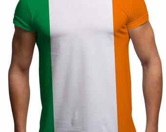 Men's St Patricks Day T shirt Ireland Flag Irish Flag St Patricks Day tshirts All Over Print Gifts For Men