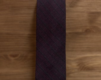 men's necktie - burgundy plaid