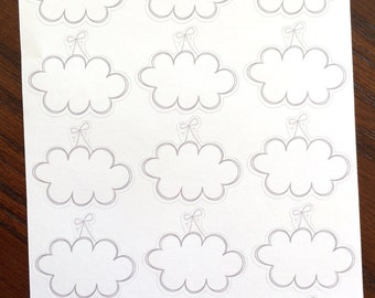 Hanging Clouds Planner Stickers