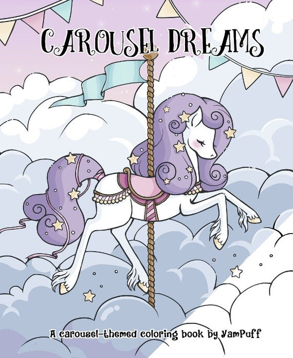 Carousel Dreams - A Digital Coloring Book