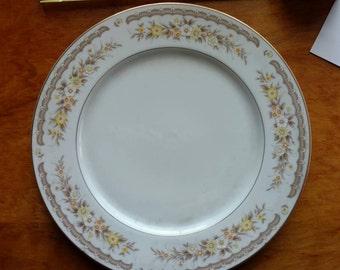 Vintage Dinner Plate EKCO International China Golden Autumn