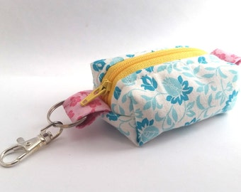 LIGHT BLUE Keychain Tiny Pouch | Mini Zipper Pouch | Coin Purse | Boxed Pouch | On-the-go Pouch