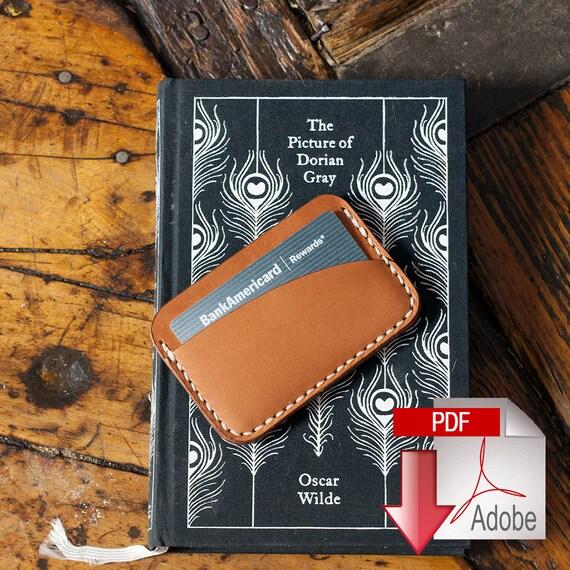 Leather Card Holder 3-pocket Digital PDF Template Build