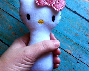 ITH Kitty Inspired Softie - Squeaky - Rattle DIGITAL Embroidery Design