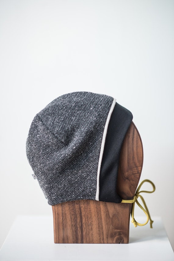 LINOTTE - knit winter hat, polar linning for baby and kids: boys and girls - grey