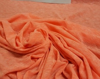 Orange Sunburst Cotton Blend Jersey