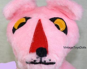 Vintage Pink Panther Handmade, Plush Doll