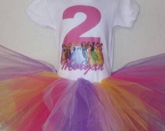 Princesses tutu birthday outfit