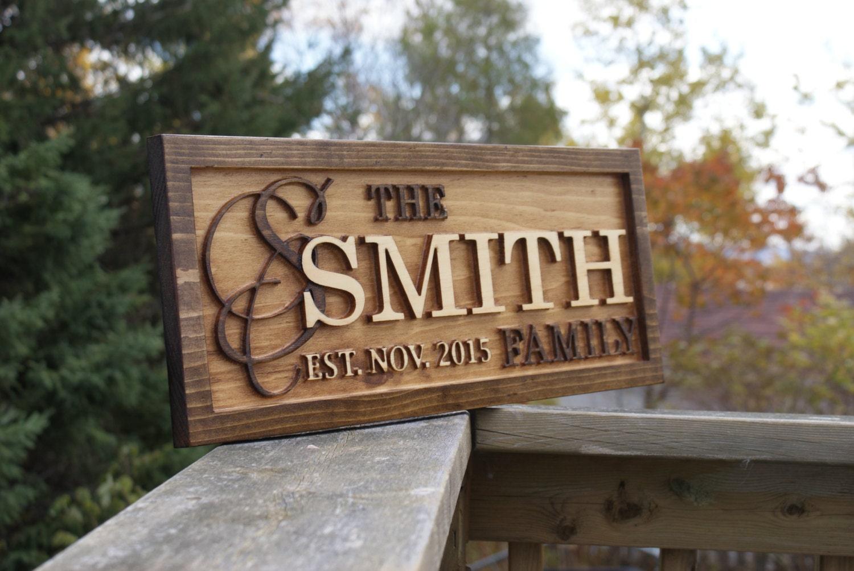 Wedding Gift Canada: Personalized Last Name Sign Family Name Wedding Gift Custom