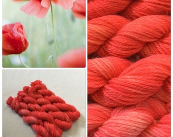 Hand Dyed Yarn, Hand Painted Yarn, DK, Mini Skeins, Superwash, Wool, Alpaca, Color: First Blush
