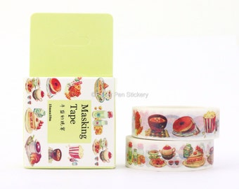 Planner Washi Tape, Dessert Food Washi Tape, Planner Decoration, House Home Cooking Food Scrapbooking Stationery Supply Decorative FSFWAP