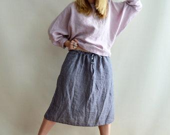 Linen Skirt, Midi Skirt, Skirt with Pockets, Womens Skirts, Skirt XL, Boho Skirt, Custom Skirt, Plus size skirt, Skirts for Women, Linenbee