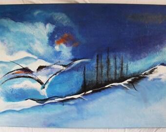 "Oil painting ""Blue dream"""