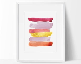 Pink Purple Gold Abstract, Pink Abstract, Gold Abstract, Abstract Printable, 8x10, 5x7 Abstract Print, Abstract Purple Pink Gold Print.