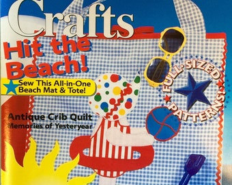 Sunbonnet Crafts Magazine - Summer 1994 - Quilting - Plastic Canvas - Painting - Cross-Stitch - 18 Projects