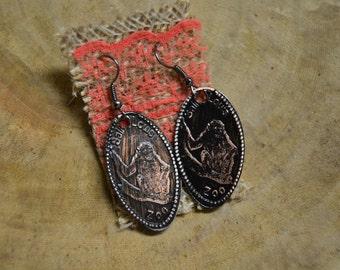 Two Monkeys Penny Earrings