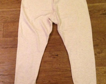 Vintage 1940's Wartime Cream Un Bleached Cotton Knitted Long Johns in Really Good Condition