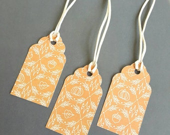 Gift Tags - Fall inspired gift tags - 18 tags - Thanksgiving gift tags - Autumn Tags