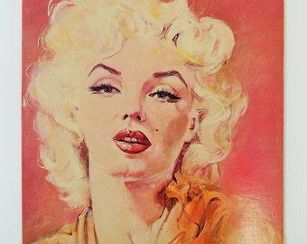 Marilyn Monroe Greeting Card, Painting by Daniel Tarantola, Star Clips NY