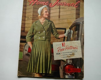 Australian Home Journal Magazine with free patterns - October 1960