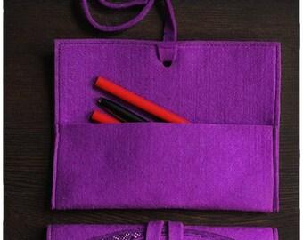 pencil case and cosmetics bag